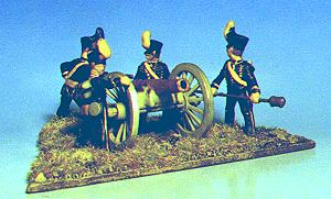 Brunswick foot artillery battery (20 mm, converted Airfix)