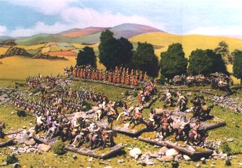 Gauls attacking the Roman camp